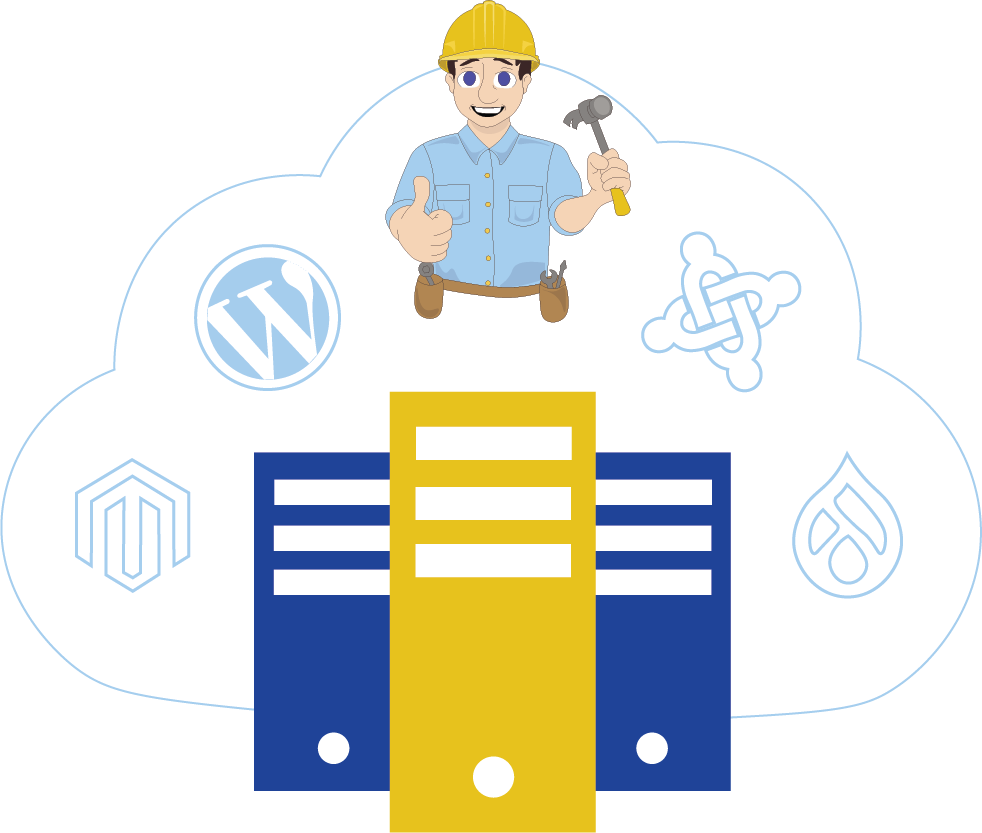 servers with builder logos